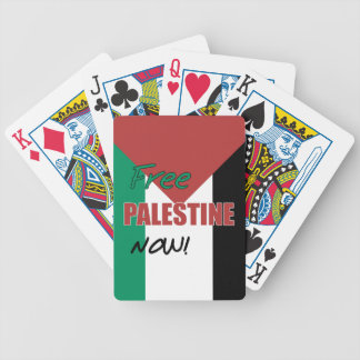 Free Palestine Now Palestinian Flag Bicycle Playing Cards