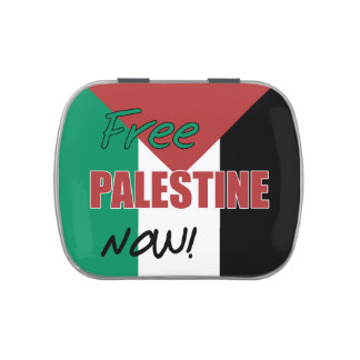 Free Palestine Now Palestinian Flag Jelly Belly Candy Tins