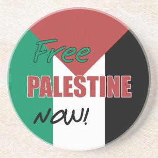 Free Palestine Now Palestinian Flag Beverage Coasters
