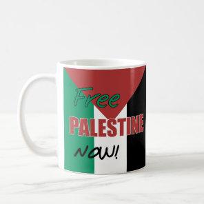 Free Palestine Now Palestinian Flag Coffee Mug