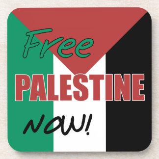 Free Palestine Now Palestinian Flag Beverage Coaster