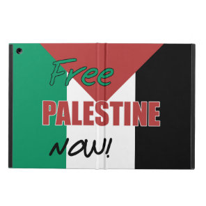 Free Palestine Now Palestinian Flag Cover For iPad Air