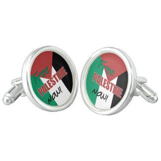 Free Palestine Now Palestinian Flag Cufflinks