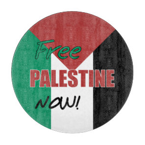 Free Palestine Now Palestinian Flag Cutting Board