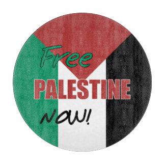 Free Palestine Now Palestinian Flag Cutting Board