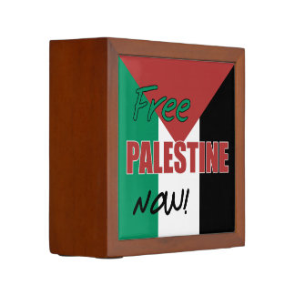 Free Palestine Now Palestinian Flag Desk Organizer
