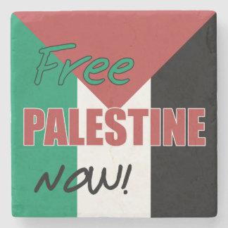 Free Palestine Now Palestinian Flag Stone Beverage Coaster