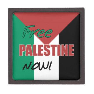 Free Palestine Now Palestinian Flag Jewelry Box