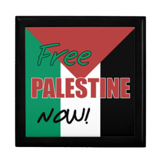 Free Palestine Now Palestinian Flag Keepsake Box
