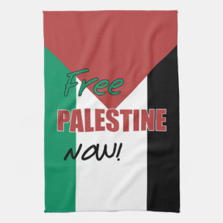 Free Palestine Now Palestinian Flag Kitchen Towels
