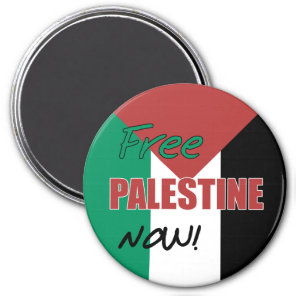 Free Palestine Now Palestinian Flag Magnet