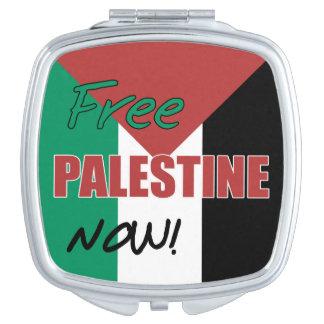 Free Palestine Now Palestinian Flag Makeup Mirror
