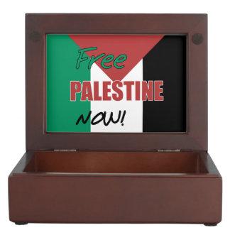Free Palestine Now Palestinian Flag Memory Box