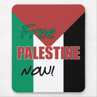 Free Palestine Now Palestinian Flag Mouse Pad