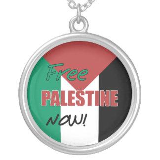 Free Palestine Now Palestinian Flag Pendant