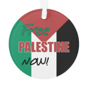 Free Palestine Now Palestinian Flag Ornament