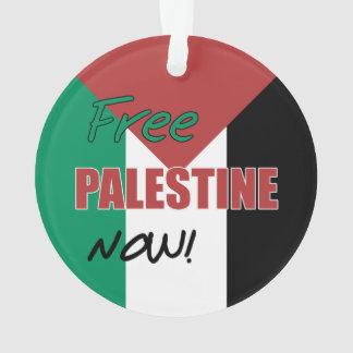 Free Palestine Now Palestinian Flag Ornament