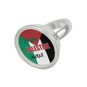 Free Palestine Now Palestinian Flag Photo Rings