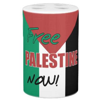 Free Palestine Now Palestinian Flag Toothbrush Holders