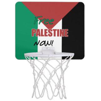 Free Palestine Now Palestinian Flag Mini Basketball Backboard