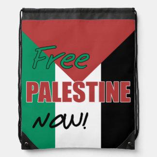 Free Palestine Now Palestinian Flag Cinch Bag