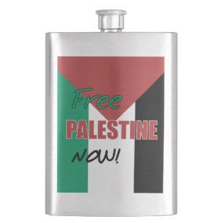 Free Palestine Now Palestinian Flag Flask