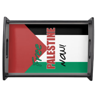 Free Palestine Now Palestinian Flag Serving Platter