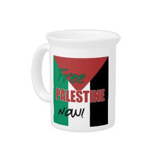 Free Palestine Now Palestinian Flag Pitcher