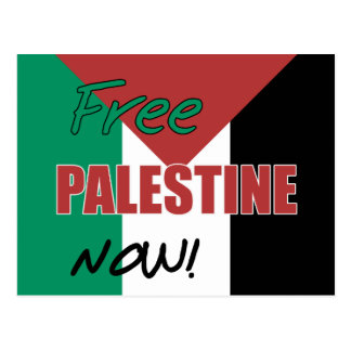 Free Palestine Now Palestinian Flag Postcard