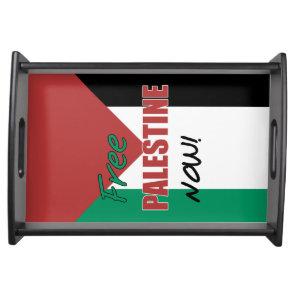 Free Palestine Now Palestinian Flag Serving Tray
