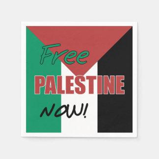 Free Palestine Now Palestinian Flag Paper Napkin