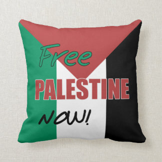 Free Palestine Now Palestinian Flag Throw Pillow