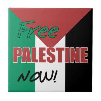 Free Palestine Now Palestinian Flag Tile