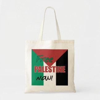 Free Palestine Now Palestinian Flag Tote Bag