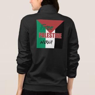 Free Palestine Now Palestinian Flag Printed Jacket
