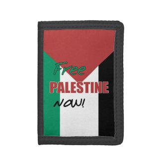 Free Palestine Now Palestinian Flag Tri-fold Wallets