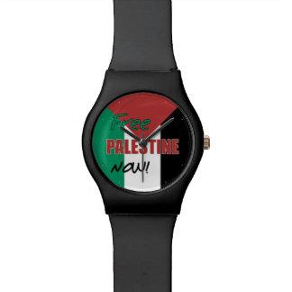 Free Palestine Now Palestinian Flag Wrist Watches