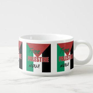 Free Palestine Now Palestinian Flag Chili Bowl