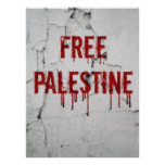 Free Palestine - painted Poster