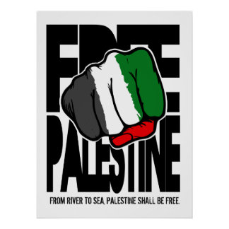 Free Palestine Poster with River to sea quote