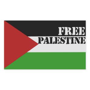 Free Palestine Rectangular Sticker