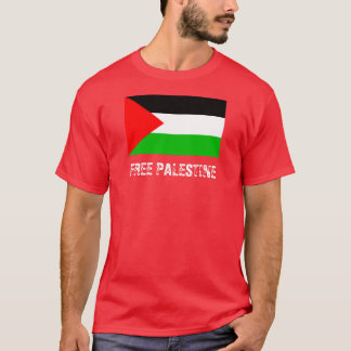 Free Palestine Red T-Shirt
