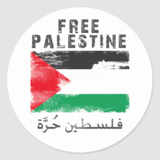 Free Palestine shirt Round Stickers