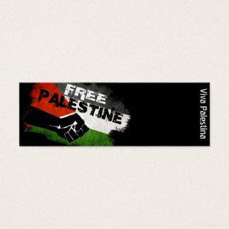 Free Palestine - Viva Palestina Mini Business Card