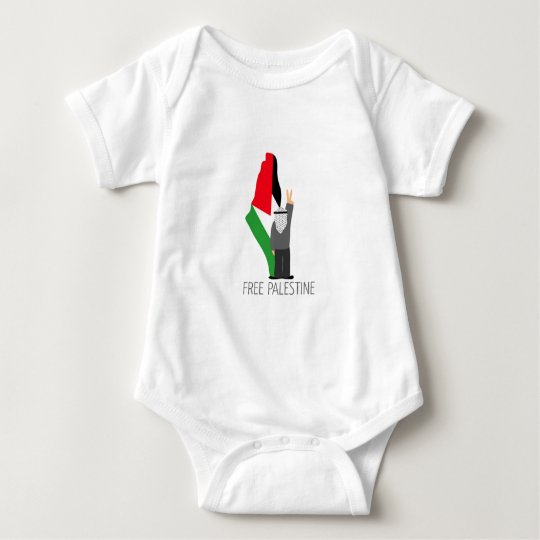 Free Palestine with the right of return Baby Bodysuit
