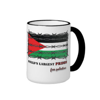 FREE PALESTINE: WORLD'S LARGEST PRISON MUGS