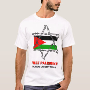 FREE PALESTINE: World's Largest Prison T-Shirt