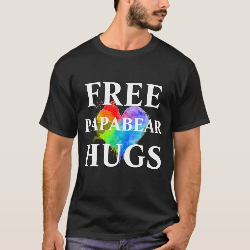 Free PapaBear Hugs Dark Color T Shirt