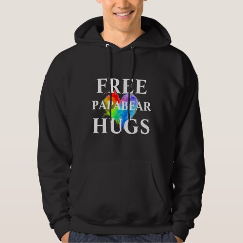 Free PapaBear Hugs Sweatshirt with hood
