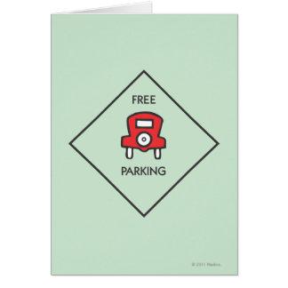 Free Parking Corner Square Card